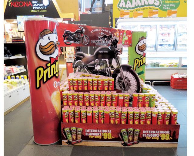 Royal Enfield Pringles Display
