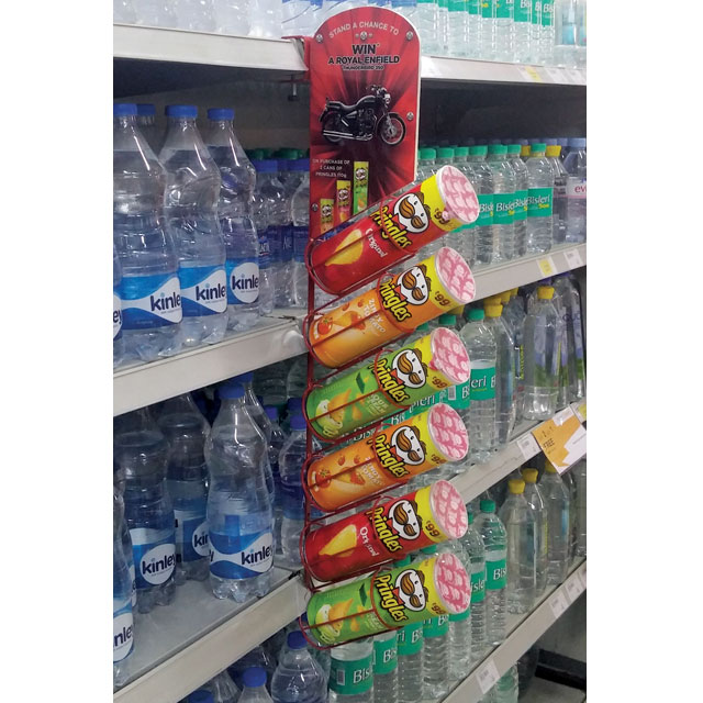 Royal Enfield Pringles Mini Wing Display
