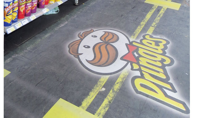 Royal Enfield Pringles Floor Graphic