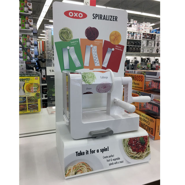 OXO Spiralizer Demo Display