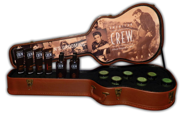 American Crew Guitar Case Permanent Display