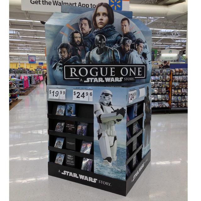 Star Wars Rogue One POP Floor Display