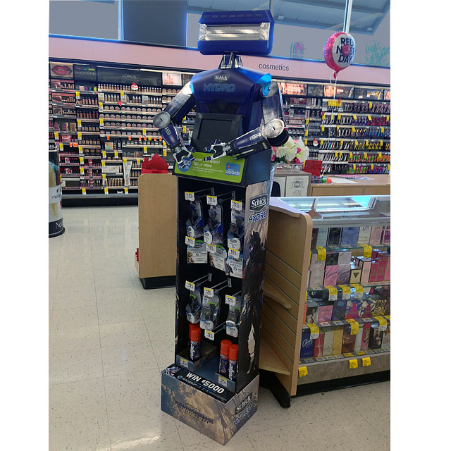 Schick Hydro Bot Floor Display