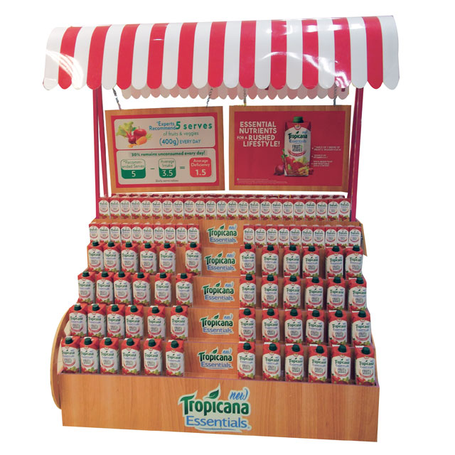 Tropicana Essentials Floor Display