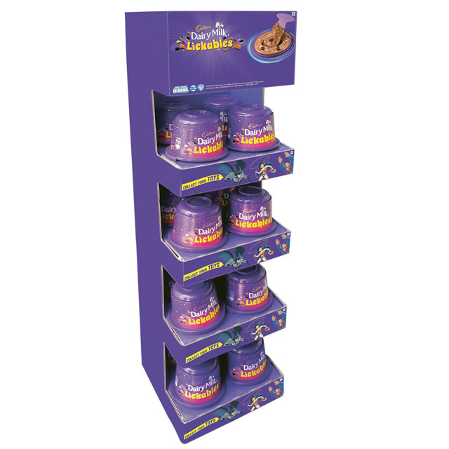 Dairy Milk Lickables Mini Wing Display