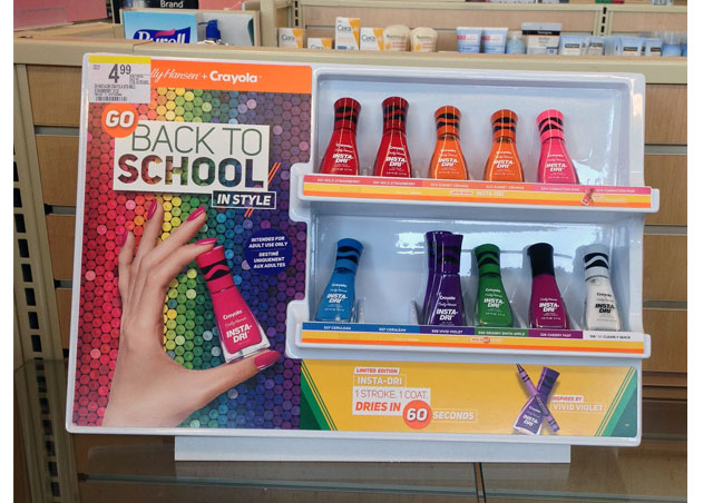 Sally Hansen And Crayola Retail Display