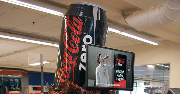 Coca-Cola Walk Around Display