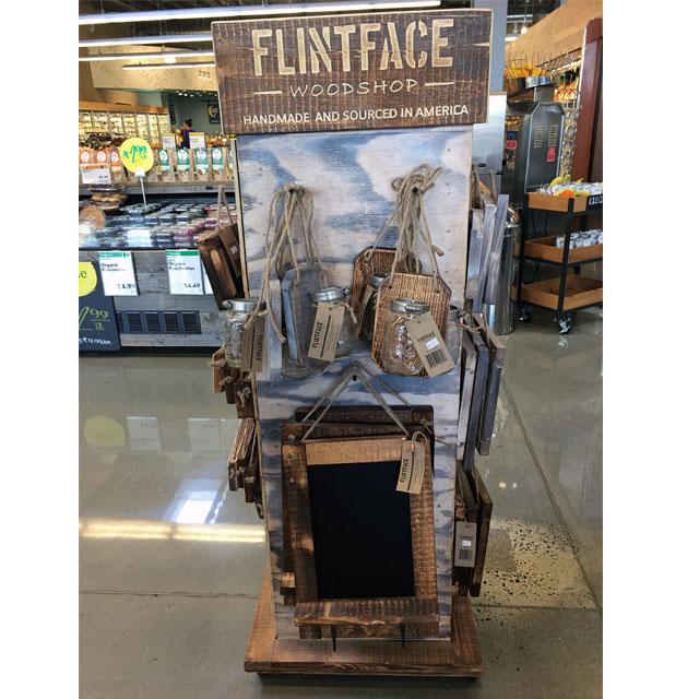 Flintface Woodshop Homespun Floor Display
