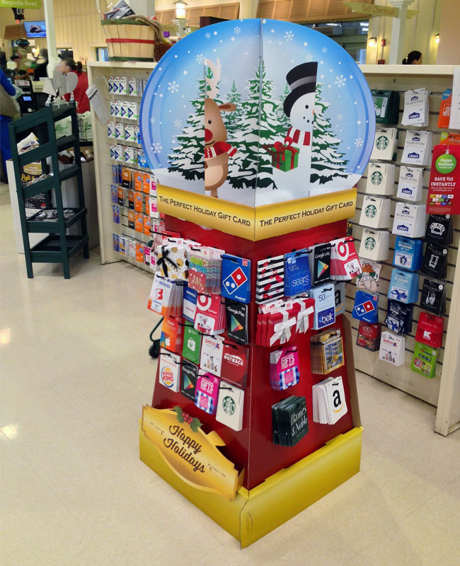 Snowglobe Holiday Floor Display