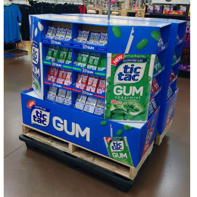 Tic Tac Gum Pallet Display