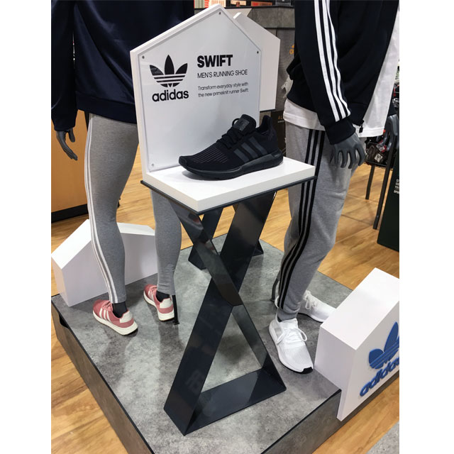 Adidas Swift Shoe Display