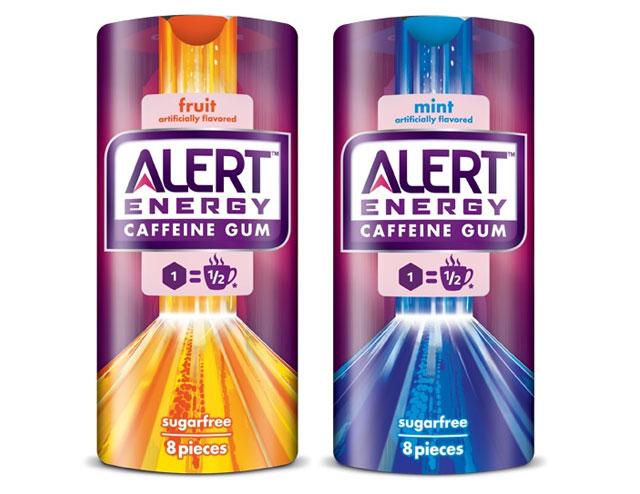 Alert Caffeine Gum Counter Display
