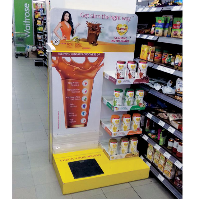 Saffola Active Nutrishake Floor Display