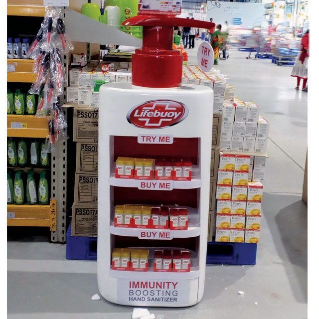 Lifebuoy Sanitizer Floor Display