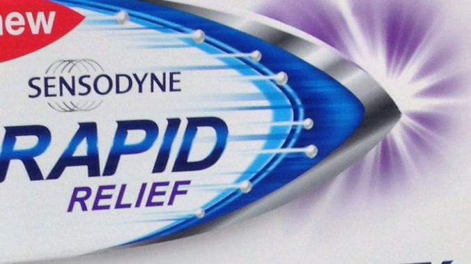 Sensodyne Rapid Relief Side Kick Display