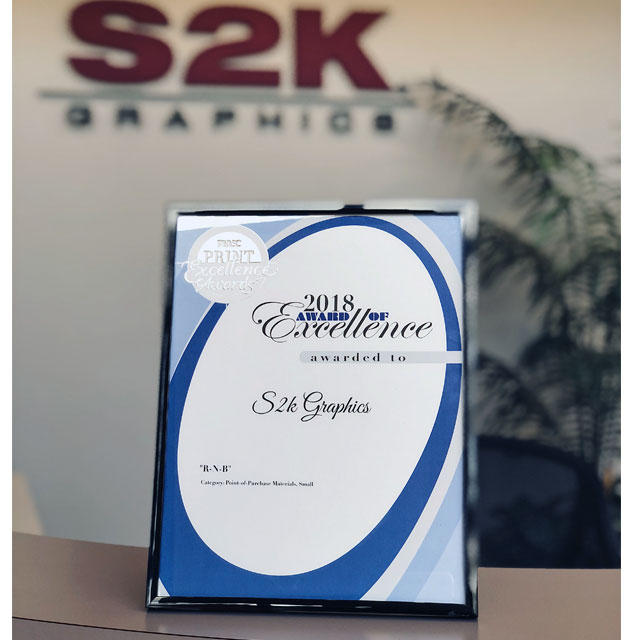 S2K Graphics Takes Home Award of Excellence
