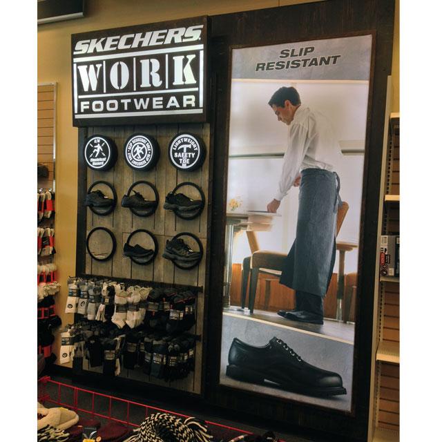 Skechers Work Footwear Display