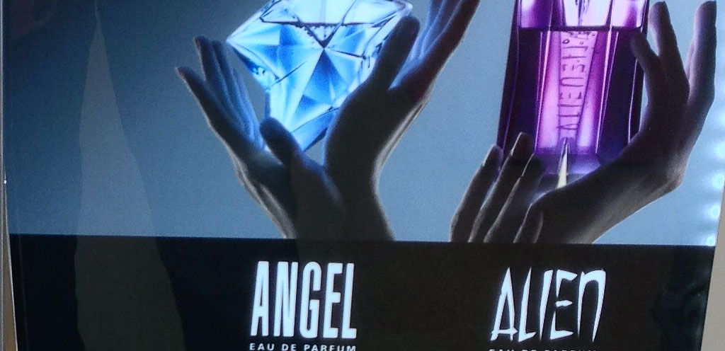 Thierry Mugler Fragrance Display Dispenses Eco Refills Point Of