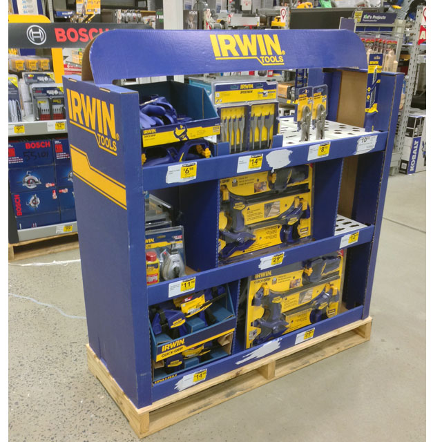 Irwin Tools Half Pallet Display