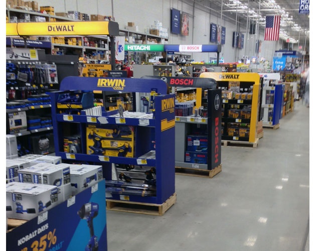 Lowes Tool Displays