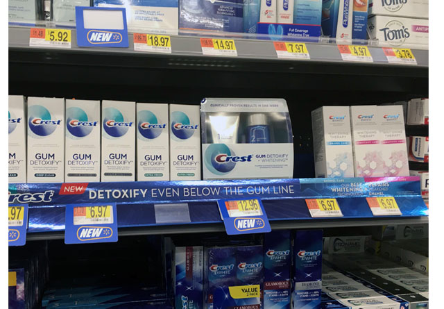 Crest Gum Detoxify Shelf Display