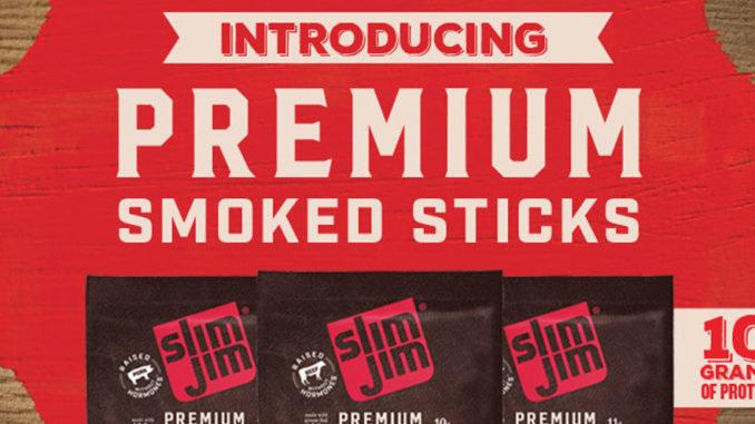 Slim Jim Premium Smoked Sticks Floor Display
