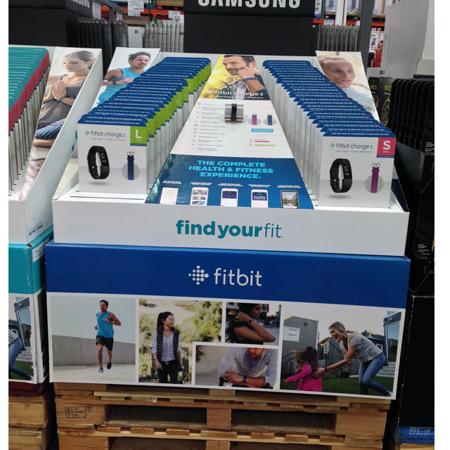 Fitbit Pallet Displays