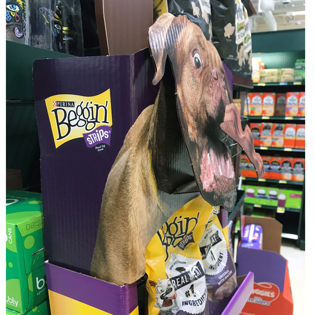Purina Beggin' Strips Floor Display