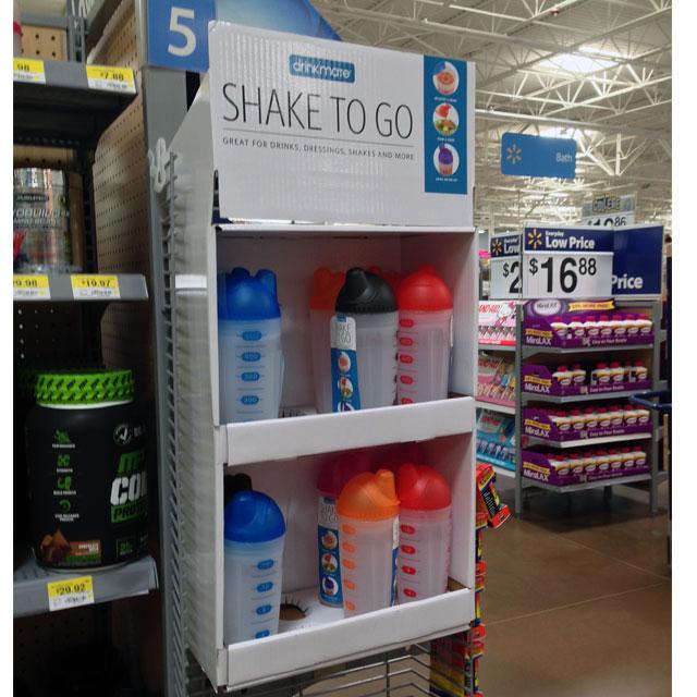 Shake To Go Side Kick Display