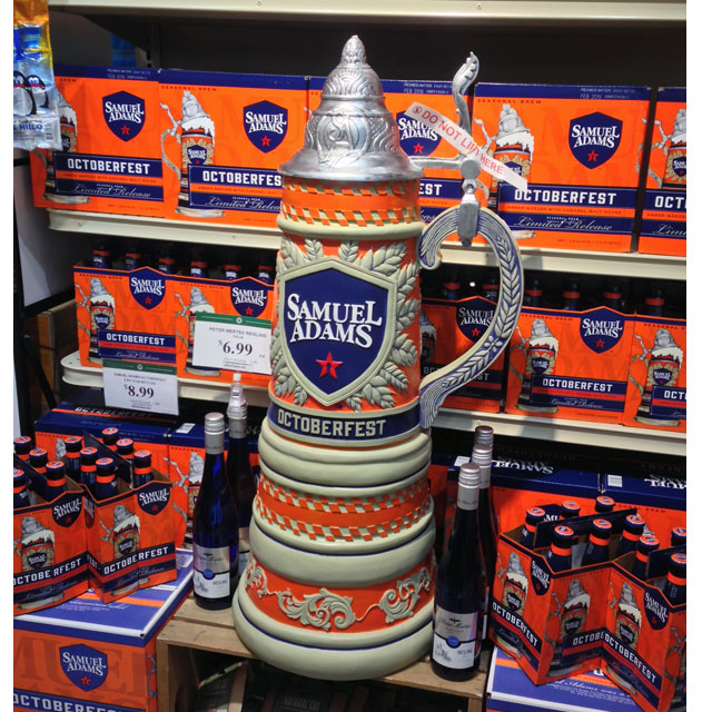 Samuel Adams OctoberFest Stein Display