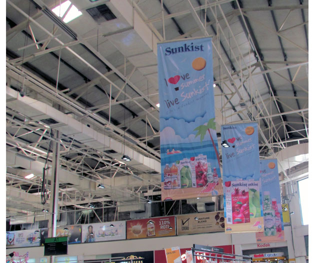 Sunkist Hanging Banners