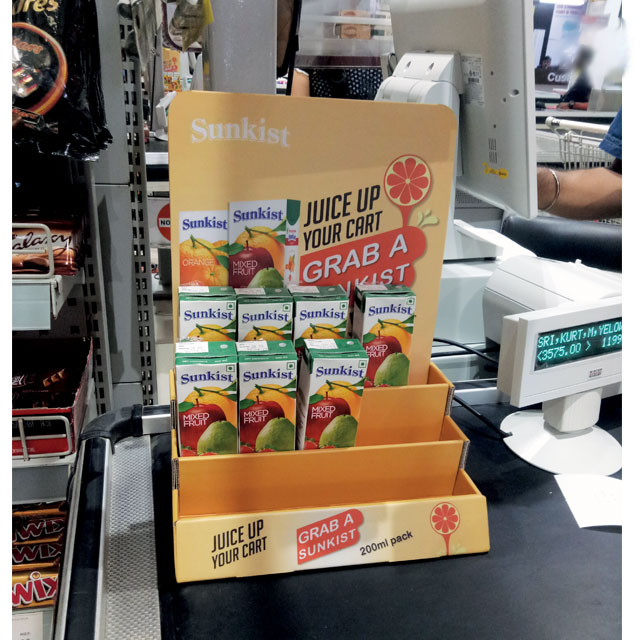 Sunkist Counter Display