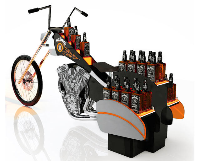 Jack Daniels Chopper Island Display