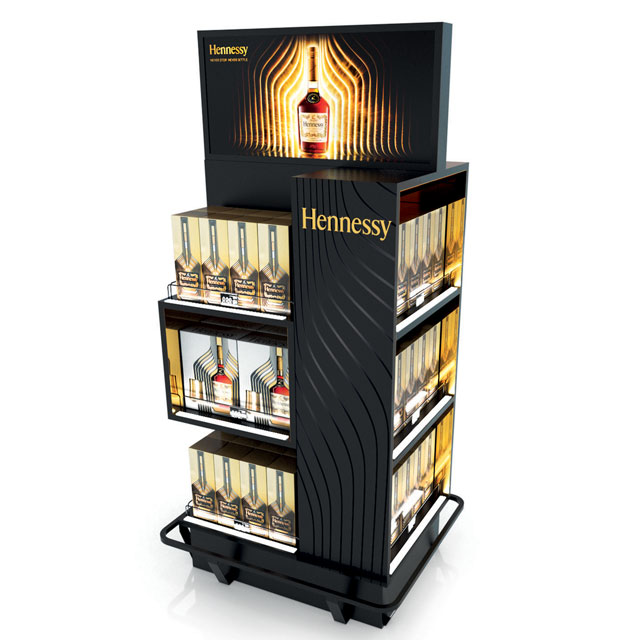 Hennessy Floor Stand Display