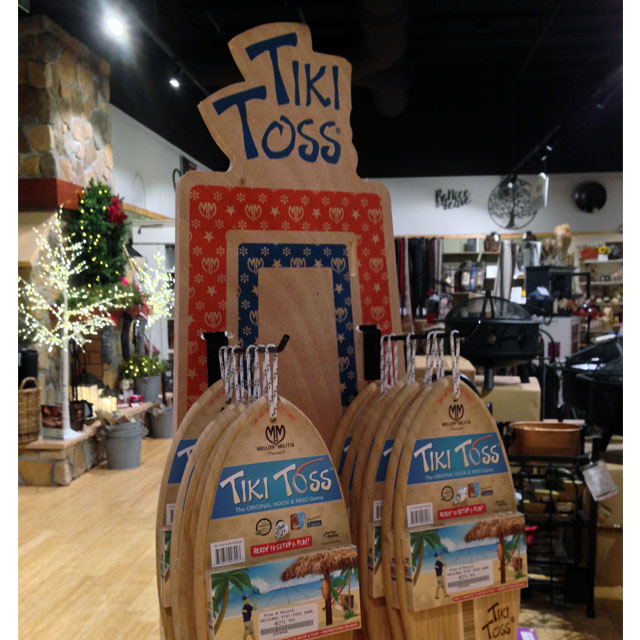 Tiki Toss Floor Display