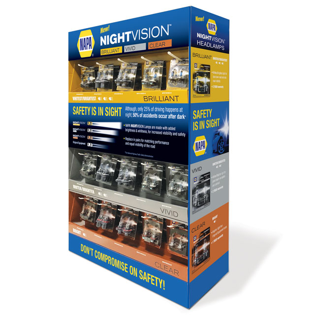 NAPA NightVision End Cap Display