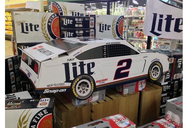 Miller Lite NASCAR Display