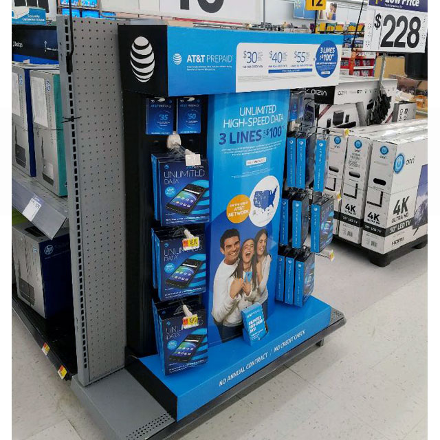 AT&T End Cap Display