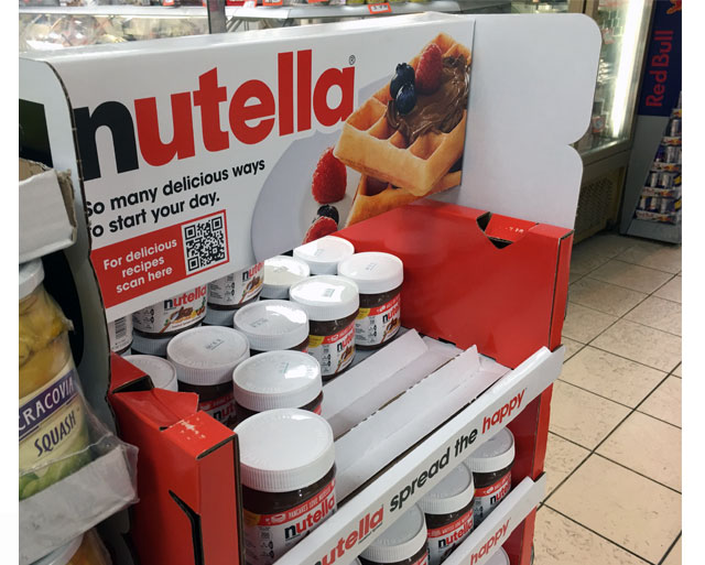 Nutella Pallet Display