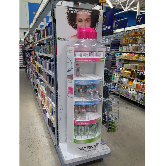 Garnier Micellar Water Bottle Display