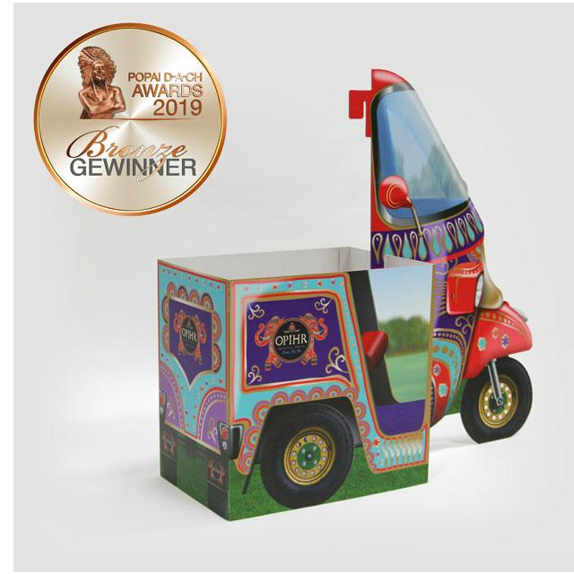 Opihr Gin Rickshaw Display