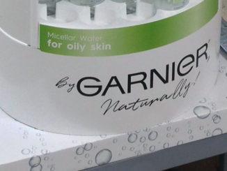 Garnier Micellar Water Bottle Display