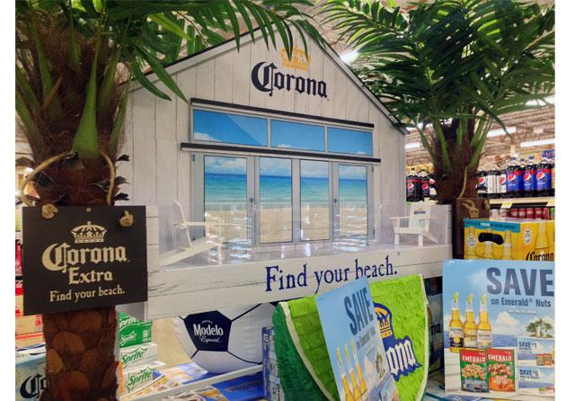 Find Your Beach Corona Display