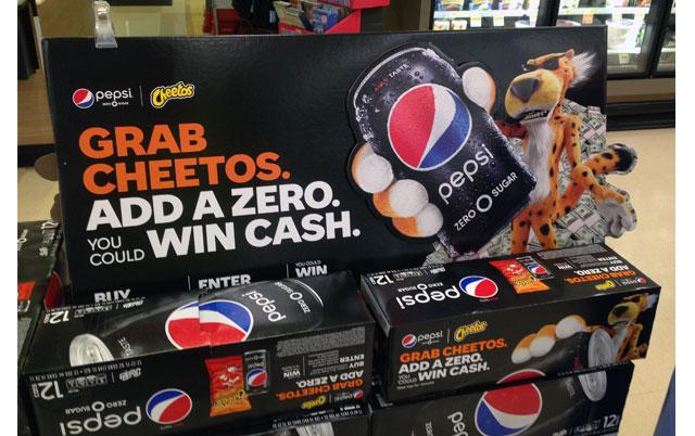 Pepsi Cheetos Win Cash Display