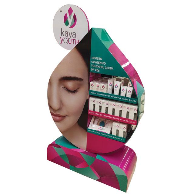 Kaya Youth Skincare Display
