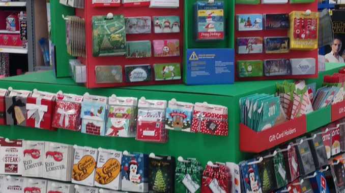 Walmart Gift Card Display