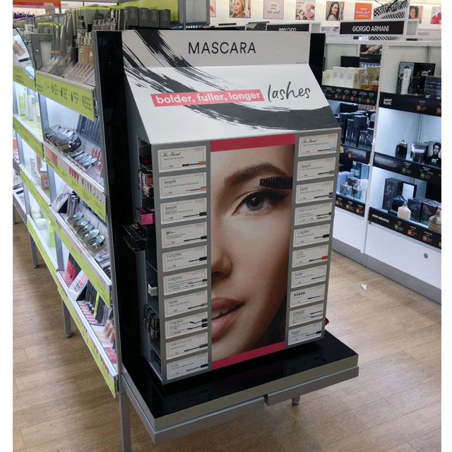 Ulta Mascara End Cap Display