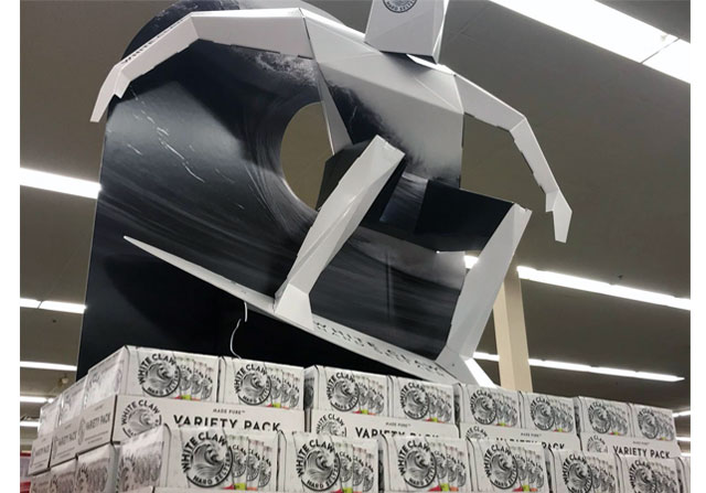 White Claw Stacker Display